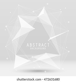 Vector abstract background with triangles. Geometric modern design