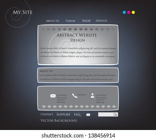 Vector Abstract Background Website Template Design