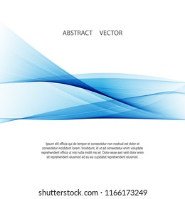 Vector abstract background. White blue wave background. Background for the site, leaflets, presentations.