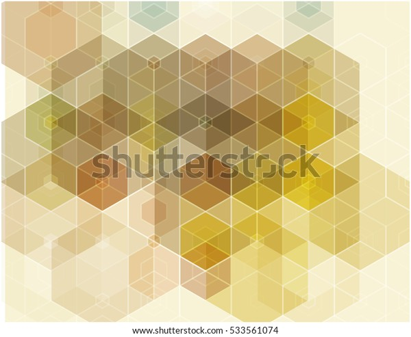 Vector abstract background in yellow and brown polygons