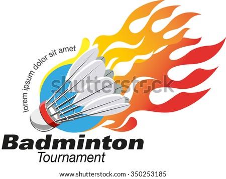 Vector Abstract Badminton Tournament Logo Event Stock ...