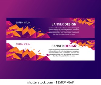 Vector abstract banner design. Elegant Colo