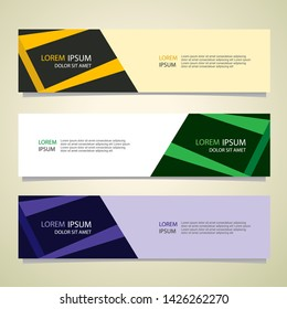 Vector abstract banner design geometric Modern. Web template. can used for landing page, Footer, Header, layout, letterhed