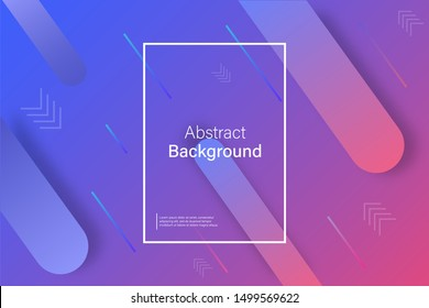 Vector abstract banner design. Abstract graphic element. Trendy web banner for flyer design. Vector geometric pattern. Minimal geometric design. EPS 10