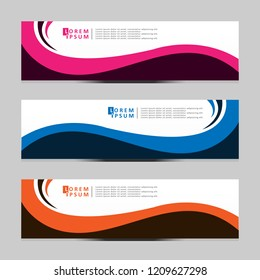 Vector abstract banner design web template. Modern vector design