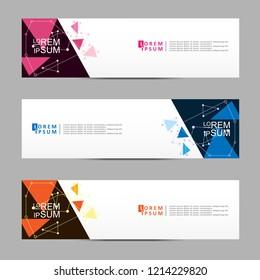 Vector abstract banner design web template. Modern vector design