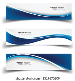 Vector abstract banner design web template. Abstract geometric design banner web template on white background. Header footer Web Design Elements. Collection of web banner template - Vector - eps10