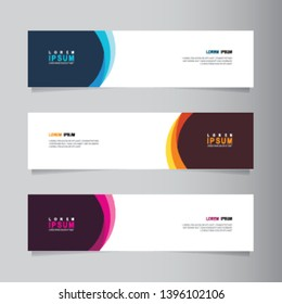 Vector abstract banner design web template. Collection of abstract Banners. Suitable for banner sale, presentation, social media stories, story, promotion, flyer, poster and brochure.