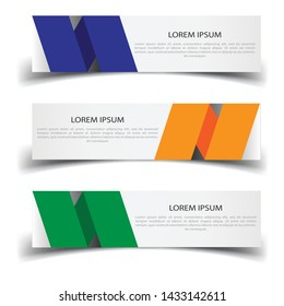 Vector abstract banner design web template. Abstract design banner web template on white background. Header footer Web Design Elements. Collection of web banner template - Vector set - eps10
