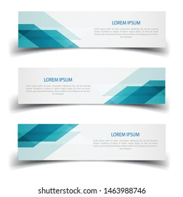 Vector abstract banner design web template. Abstract design banner web template on white background. Header footer Web Design Elements. Collection of web banner template - Vector set