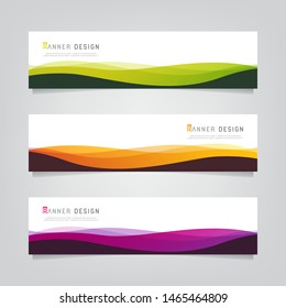 Vector abstract banner design web template. Collection of abstract gradient banners. Fluid gradient for minimal banners, letterhead, story board, flyer, poster, presentation and print media.