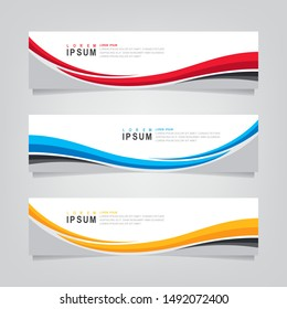 Vector abstract banner design web template. Abstract geometric background can used for letterhead, header, footer, layout, letterhed, landing page and print media