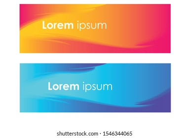 Vector abstract banner design web template. Abstract wavy geometric banner. Trendy gradient shapes composition. can be used for header, footer, layout, letterhed, landing page.
