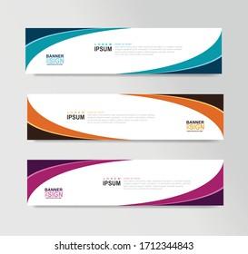 Vector Abstract Banner Design Web Template