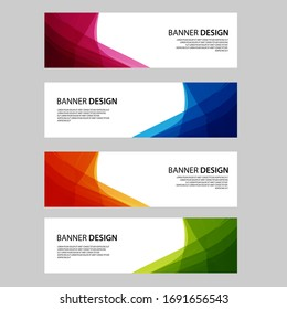 Vector Abstract banner web template
