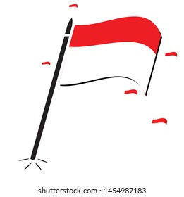 vector abstract bendera merah putih indonesian stock vector royalty free 1454987183 vector abstract bendera merah putih