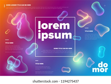 Vector Abstract biology flyer template with moleculs and virus - horizontal color version