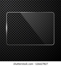 Vector abstract black technology background with transparent design element, eps8