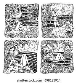 Ilustraciones, imágenes y vectores de stock sobre Hibiscus