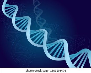 Vector abstract blue DNA with shallow depth of field.