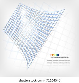 Vector abstract blue grid