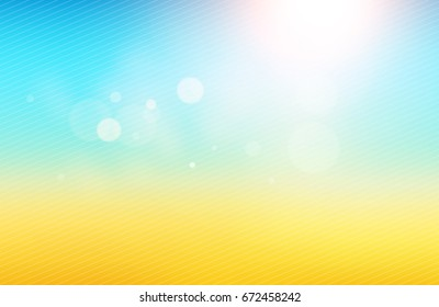 Vector: Abstract Blurred Summer Background, Bokeh, Defocused Background.