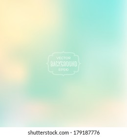 Vector abstract blurry background