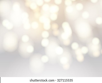 Vector abstract bokeh background. Festive unfocused lights.