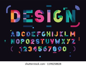vector abstract bright font and alphabet