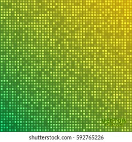 Vector abstract bright mosaic gradient green yellow background