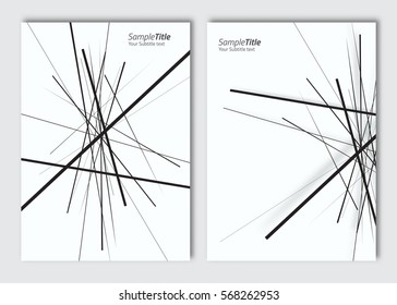Vector abstract brochure background with elements for magazine, cover, poster, flyer design. A4 size.