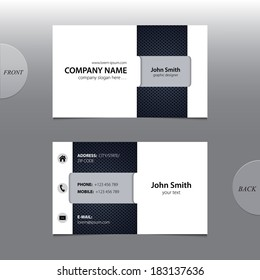 Vector abstract business card.