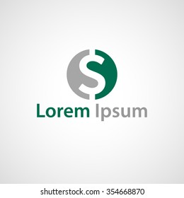 Vector abstract business company logo. Stylized dollar symbol.