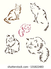 Vector abstract cat .