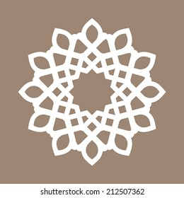 vector abstract circular pattern design mandala style. Round Pattern Mandala. Abstract design of Persian- Islamic-Turkish-Arabic vector circle floral ornamental border!