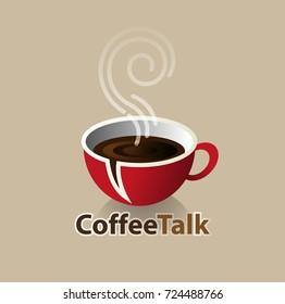 Vector abstract, coffee talk symbol