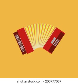 Vector Abstract Colorful Accordion Isolated On Color Background