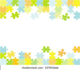 Vector Abstract colorful background made from white puzzle pieces and place for your content.
