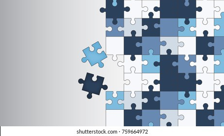 Vector Abstract colorful background made from puzzle pieces