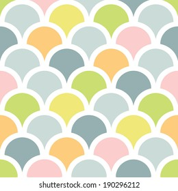 vector abstract colorful fishscale seamless pattern background