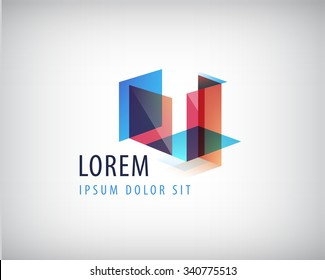 Vector abstract colorful geometric structure, abstract logo, icon isolated. Identity