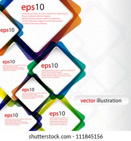 Vector abstract colorful web design background - eps10