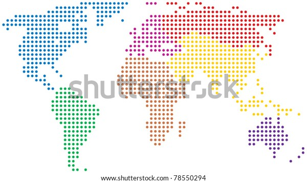vector abstract colorful world map