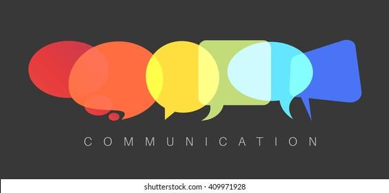 Vector abstract Communication concept illustration - dark communication version
