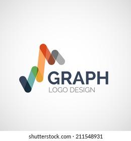 Vector abstract company logo design, business symbol concept, modern line design