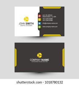 Vector Abstract Creative Business Card Template Design