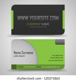 Royalty free green business card images stock photos vectors vector abstract creative business cards set template friedricerecipe Images