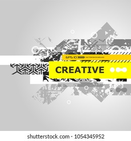 Vector abstract creative grunge background