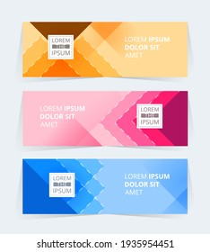 Vector abstract design Banner Pattern background.