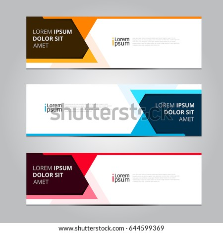 Vector Abstract Design Banner Template Stock Vector Royalty Free